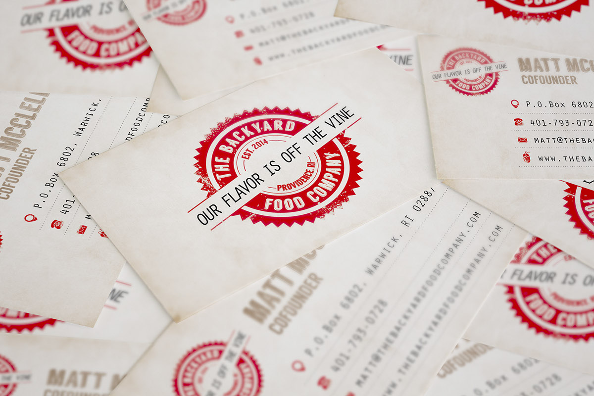 The Backyard Food Company Branding & Label design on Behance