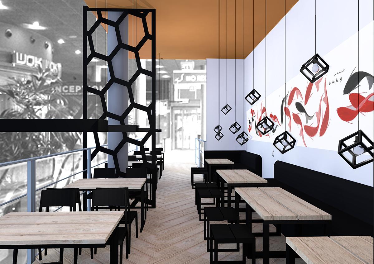 asian restaurant on behance