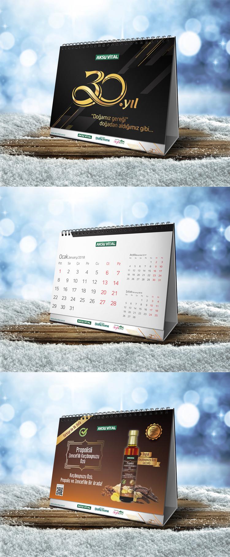 calendar psd design destop free corporate company Mockup