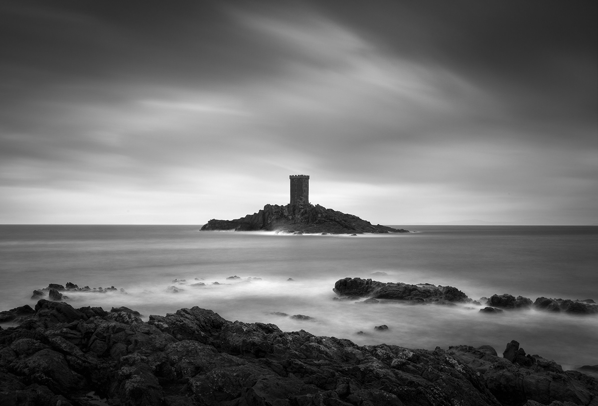 black and white fine art Photography  long exposure mood seascapes