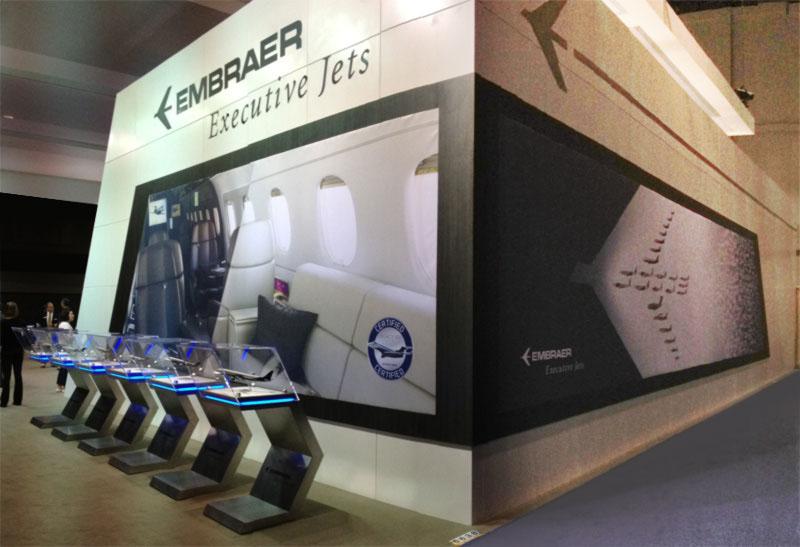 trade show display aviation banner Display jets Mural Trade Show wall Ebace NBAA