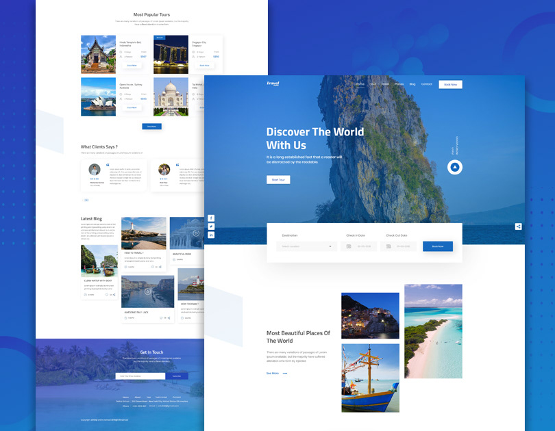 Travel Agency Landing Page on Behance