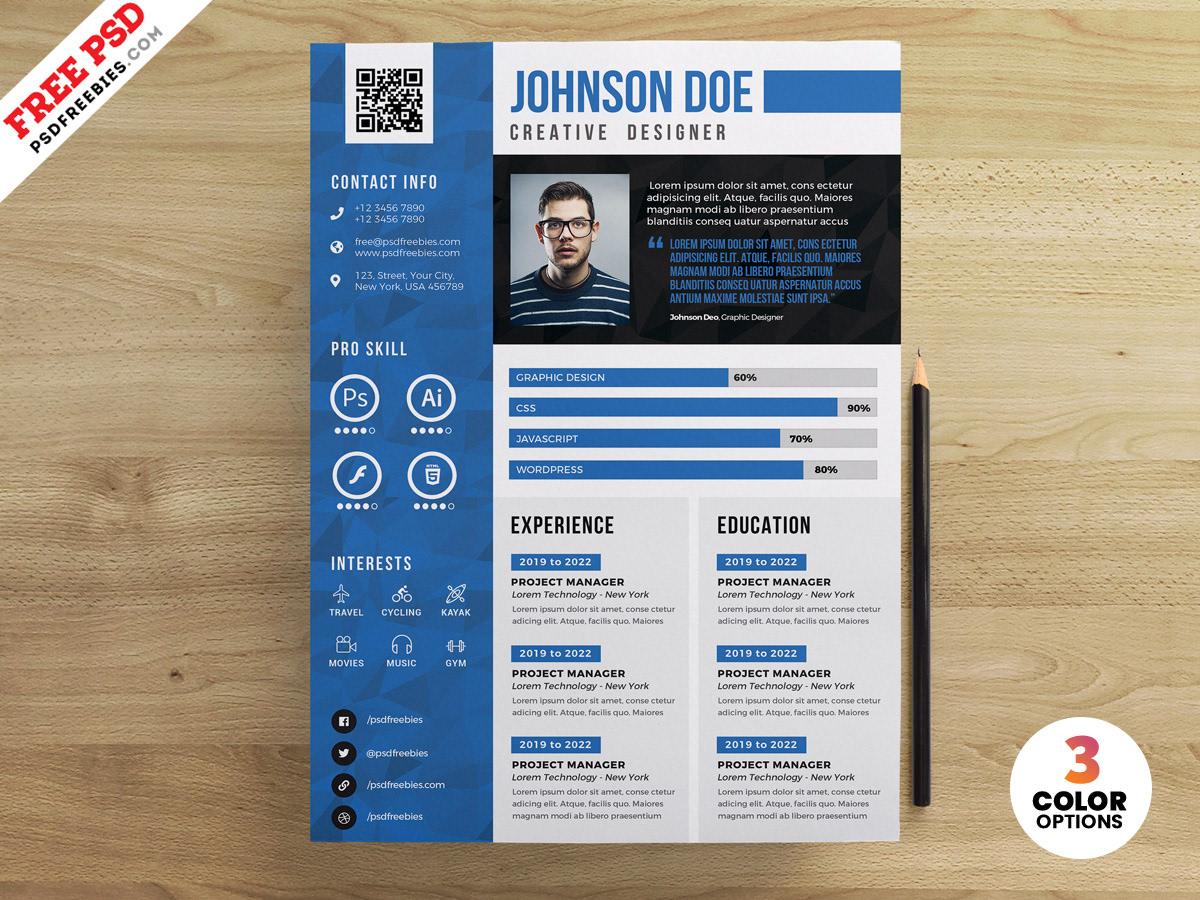 free psd,psd,Resume,CV,resume design,psd template,print,photoshop,Graphic Designer,cv design
