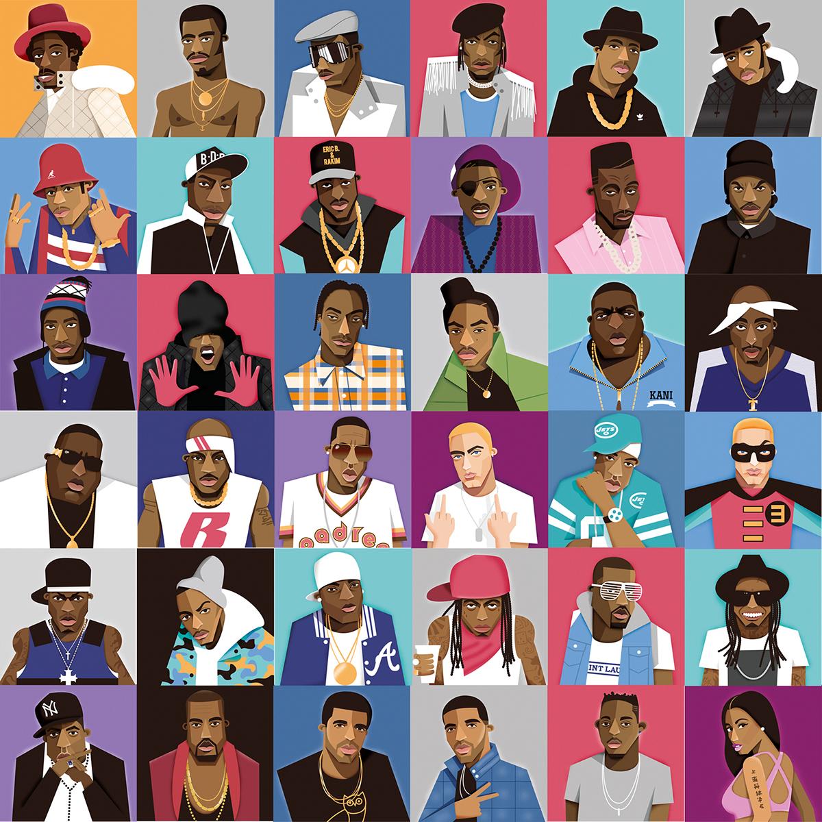 Complex best rapper alive since 1979 on behance - Drake collage wallpaper ...