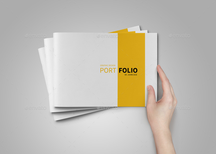 A5 portfolio template on behance for Graphic designer portfolio template free download