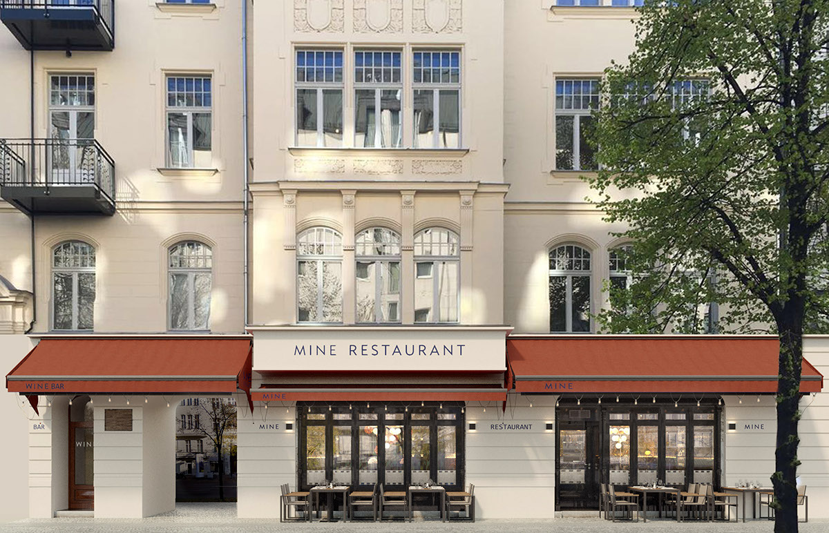 Berlin mine restaurant exterior viz on behance for Restaurant exterior design pictures