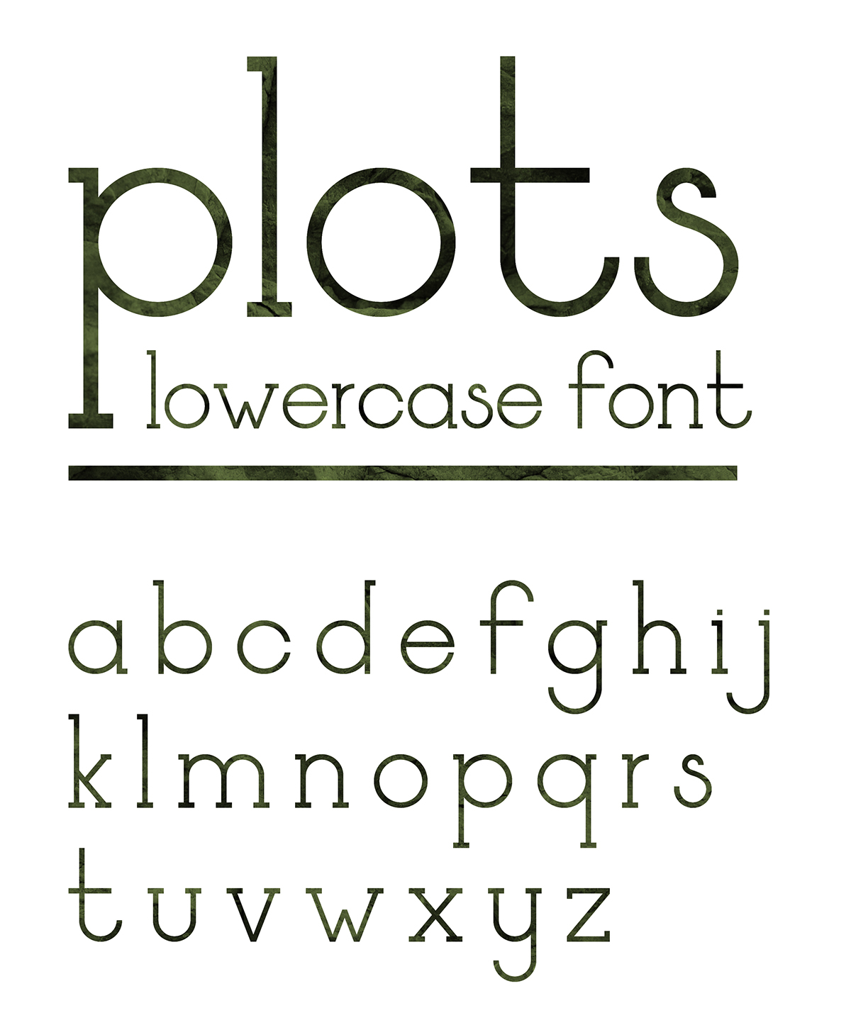 plots iammaksim Free font