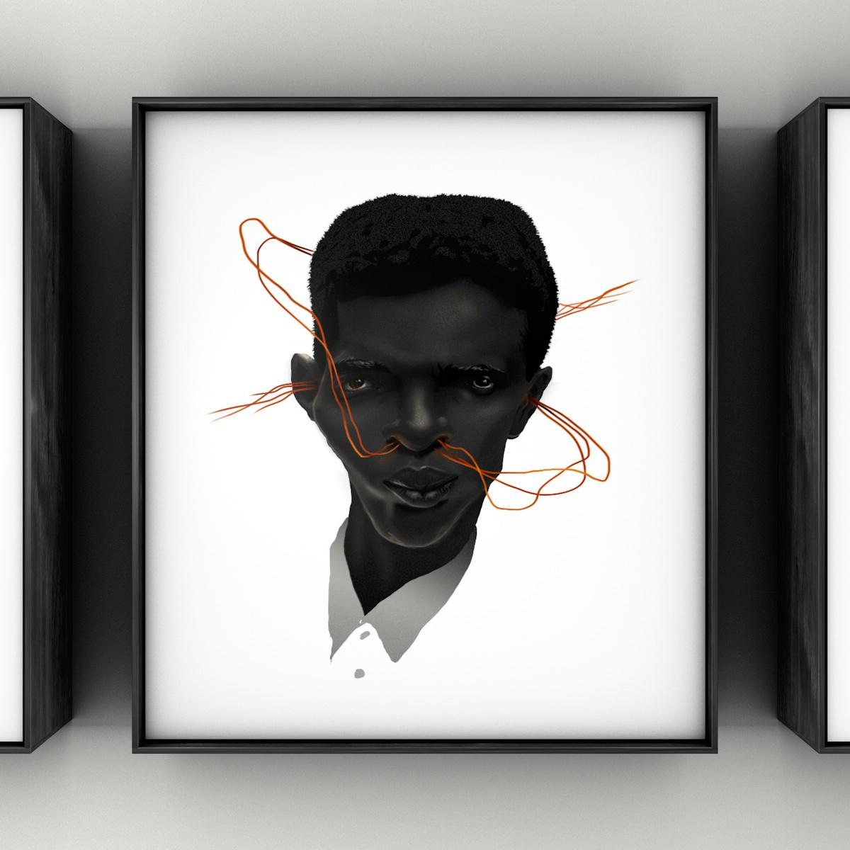 Adobe Portfolio Digital Art  photoshop portrait wacom