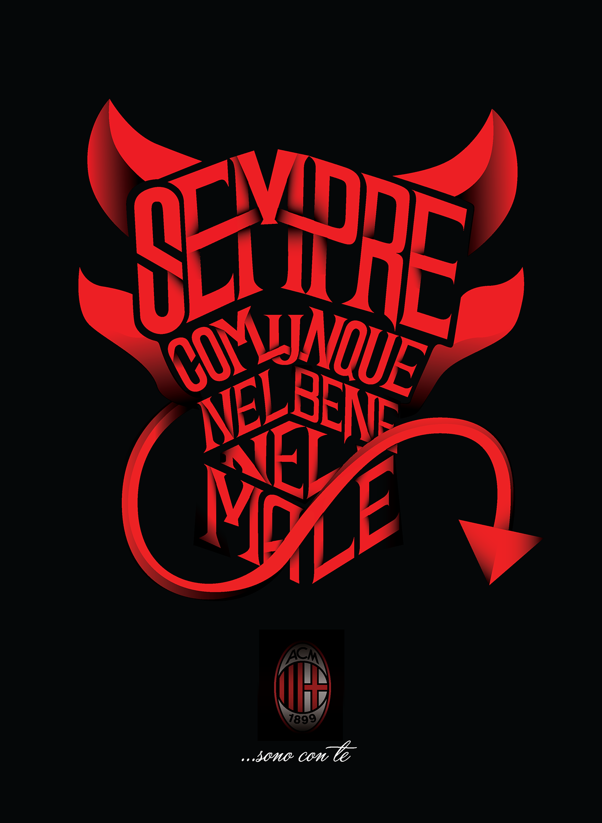 Diavolo rosso on behance for Sfondi milan hd