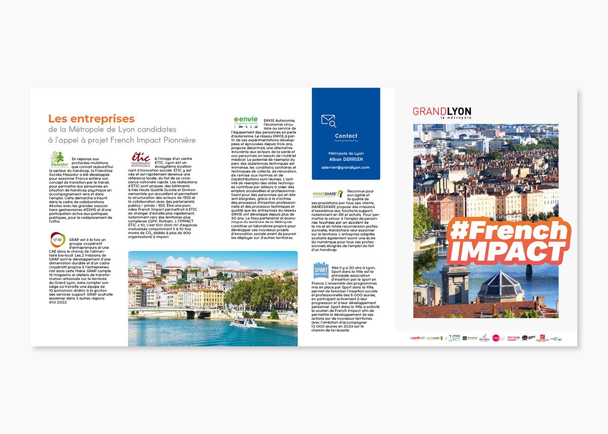 Entreprise D Architecture Lyon tri fold brochure #frenchimpact on pantone canvas gallery