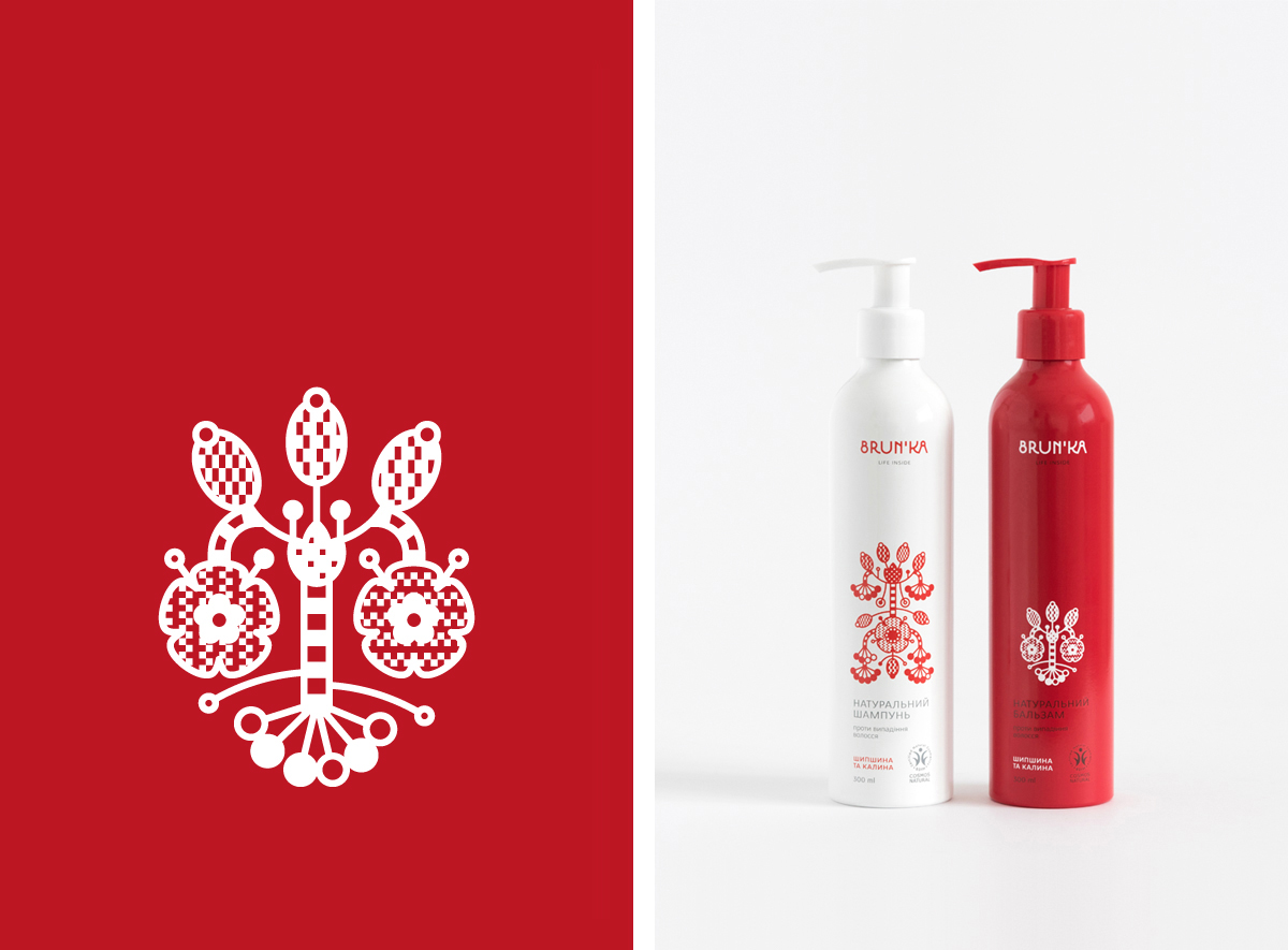 hair care cosmetics organic bio floral herbs folk pattern ornament