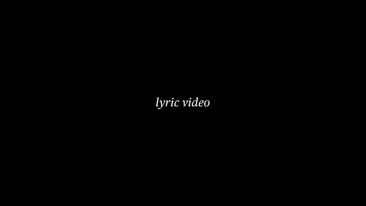 indaco ruolo scritto Lyric video Lyrics kynetic thypography minimal video black white motion flower stars thype thypography