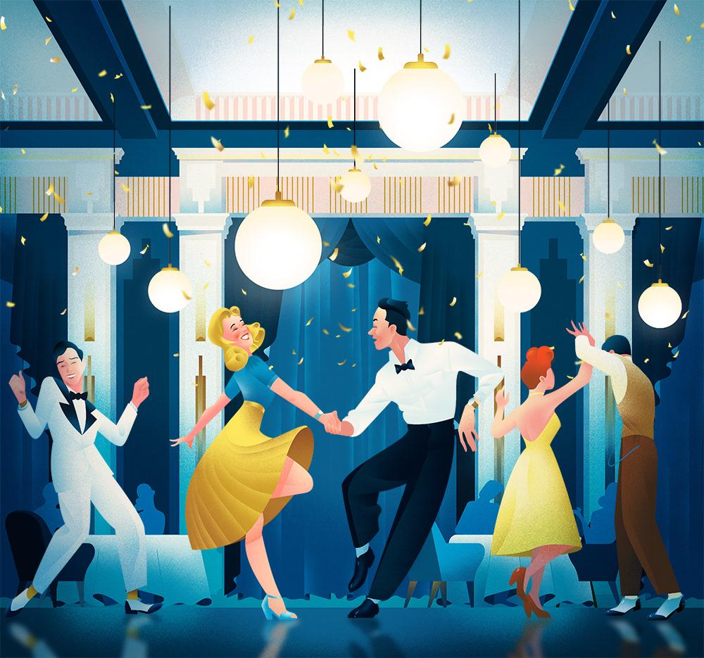 40s Character Charlestone dancing Fashion  jazz jazzclub party tuxedo