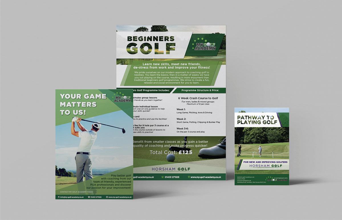 Horsham Golf Brochure & Flyers, UK.