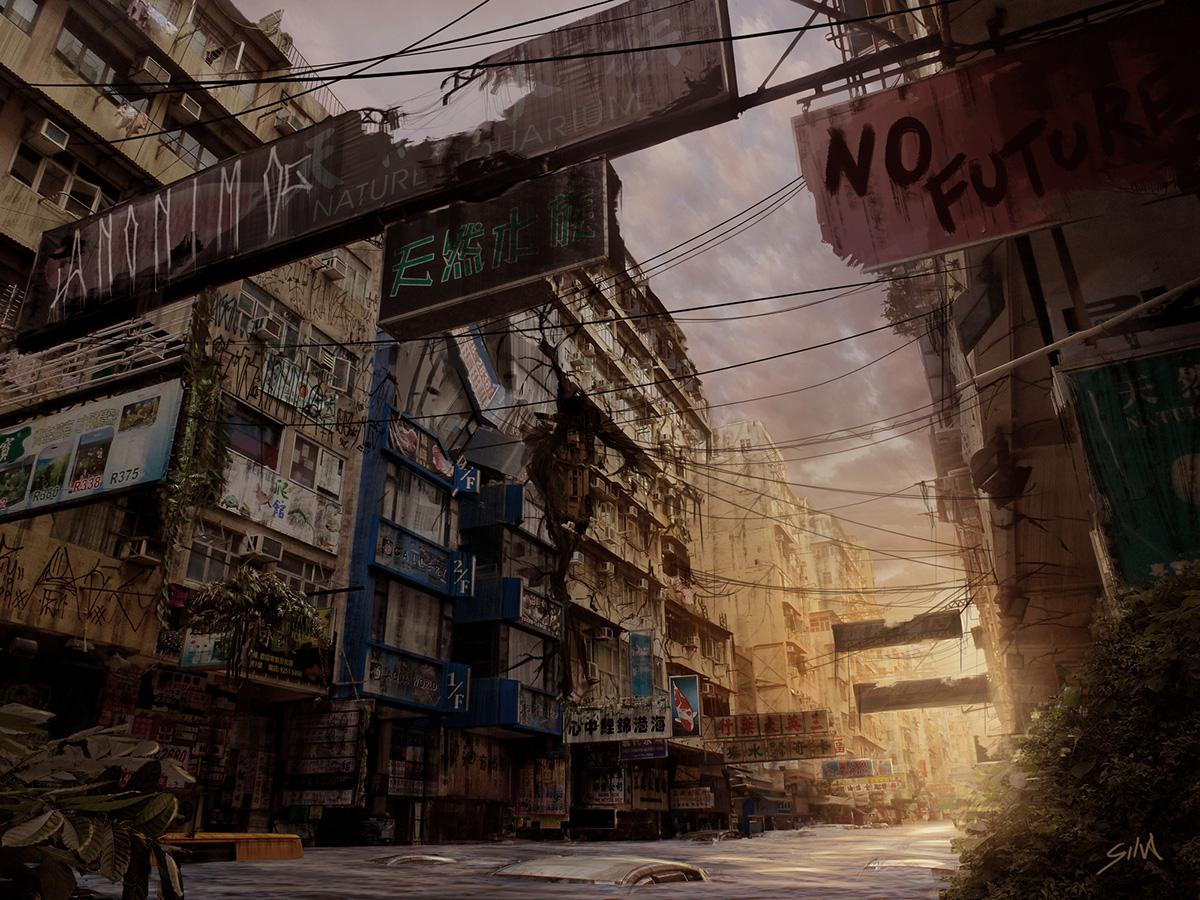 Post Apocalyptic Cityscape 01 On Behance