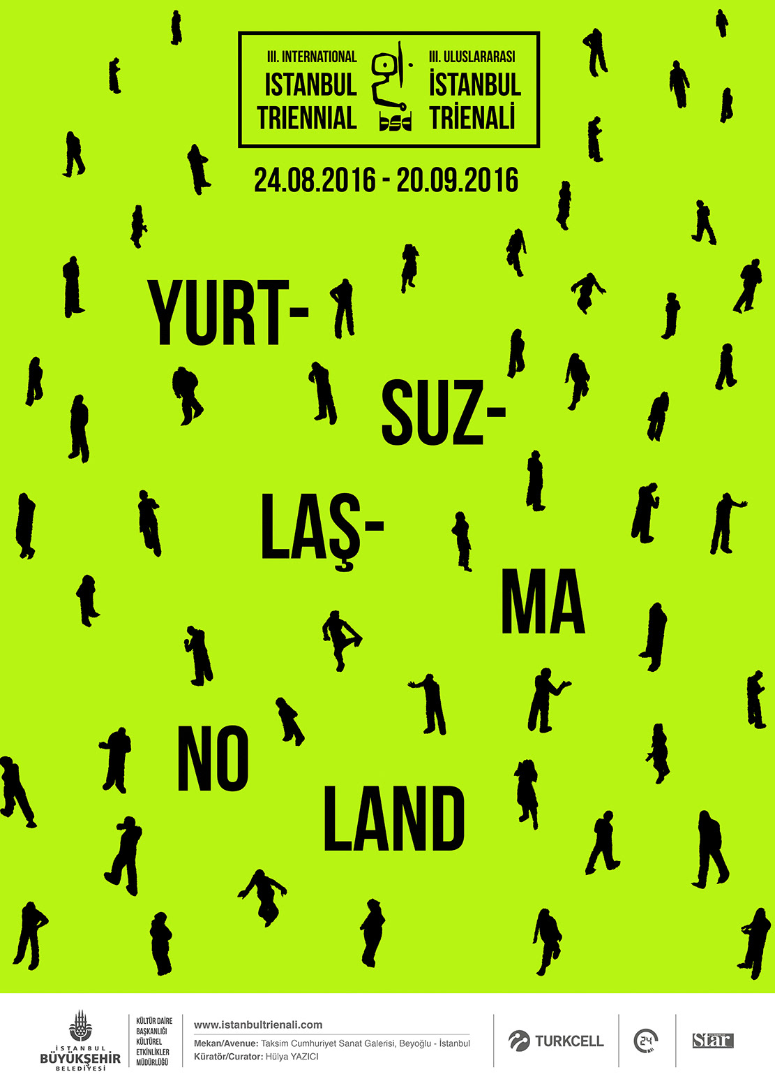 Triennial istanbul poster graphic design