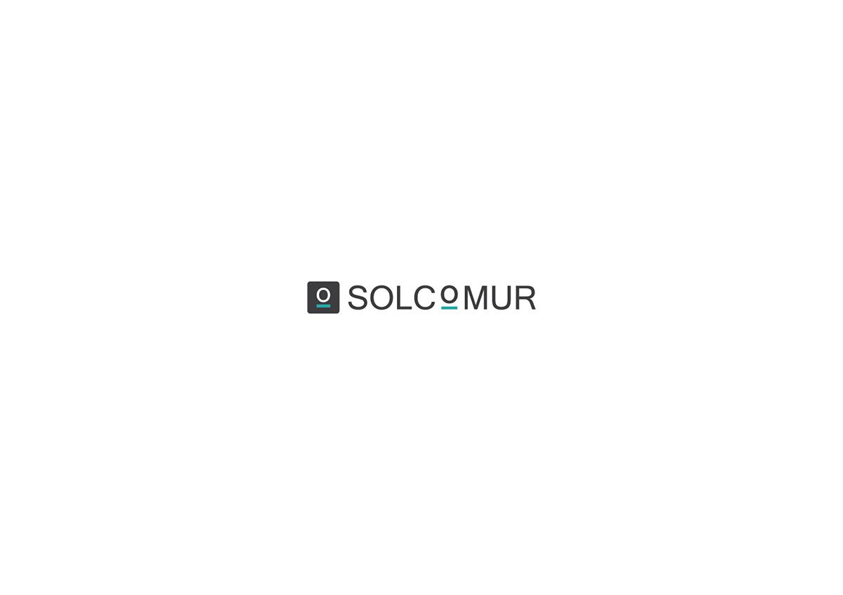 branding  brand Logotype logo Solcomur murcia design graphic design  modern concept