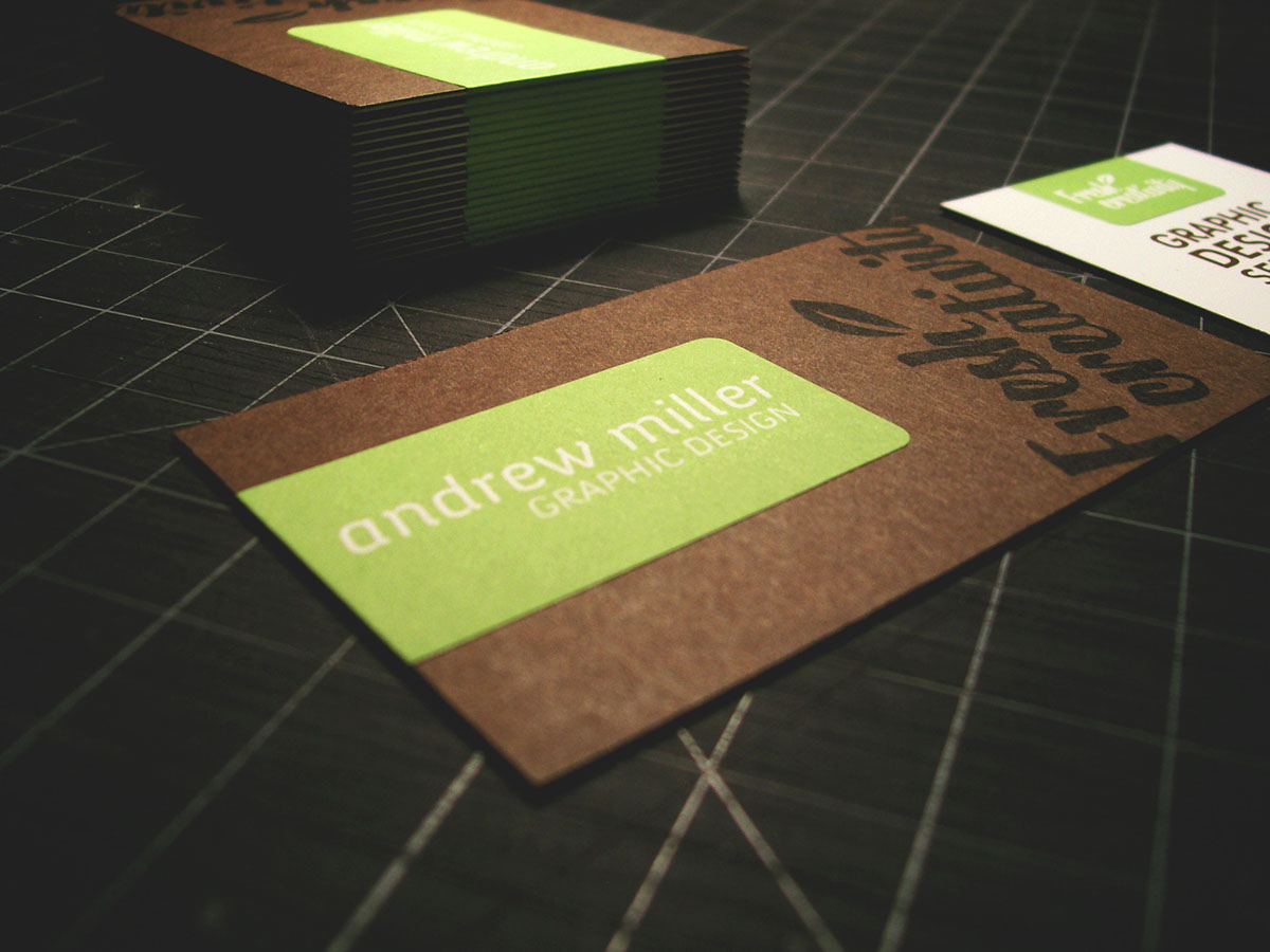 Self promotional business cards on Behance