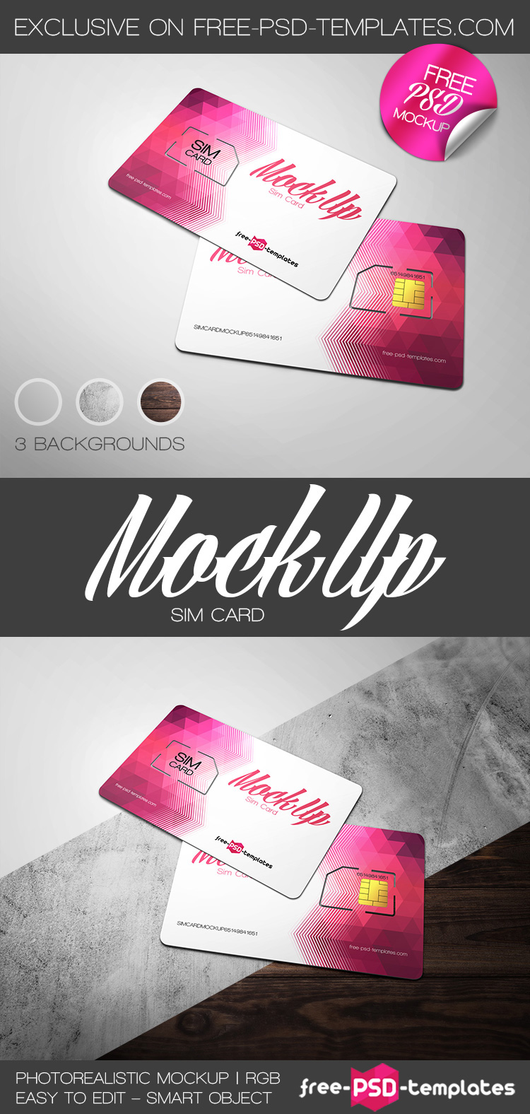 Free Sim Card Mock-up in PSD on Behance
