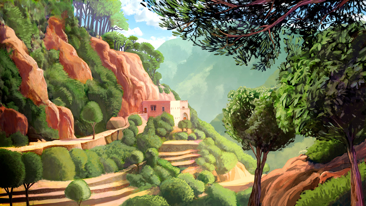background design,UNESCO,cartoon,patrimonito,Matte Painting