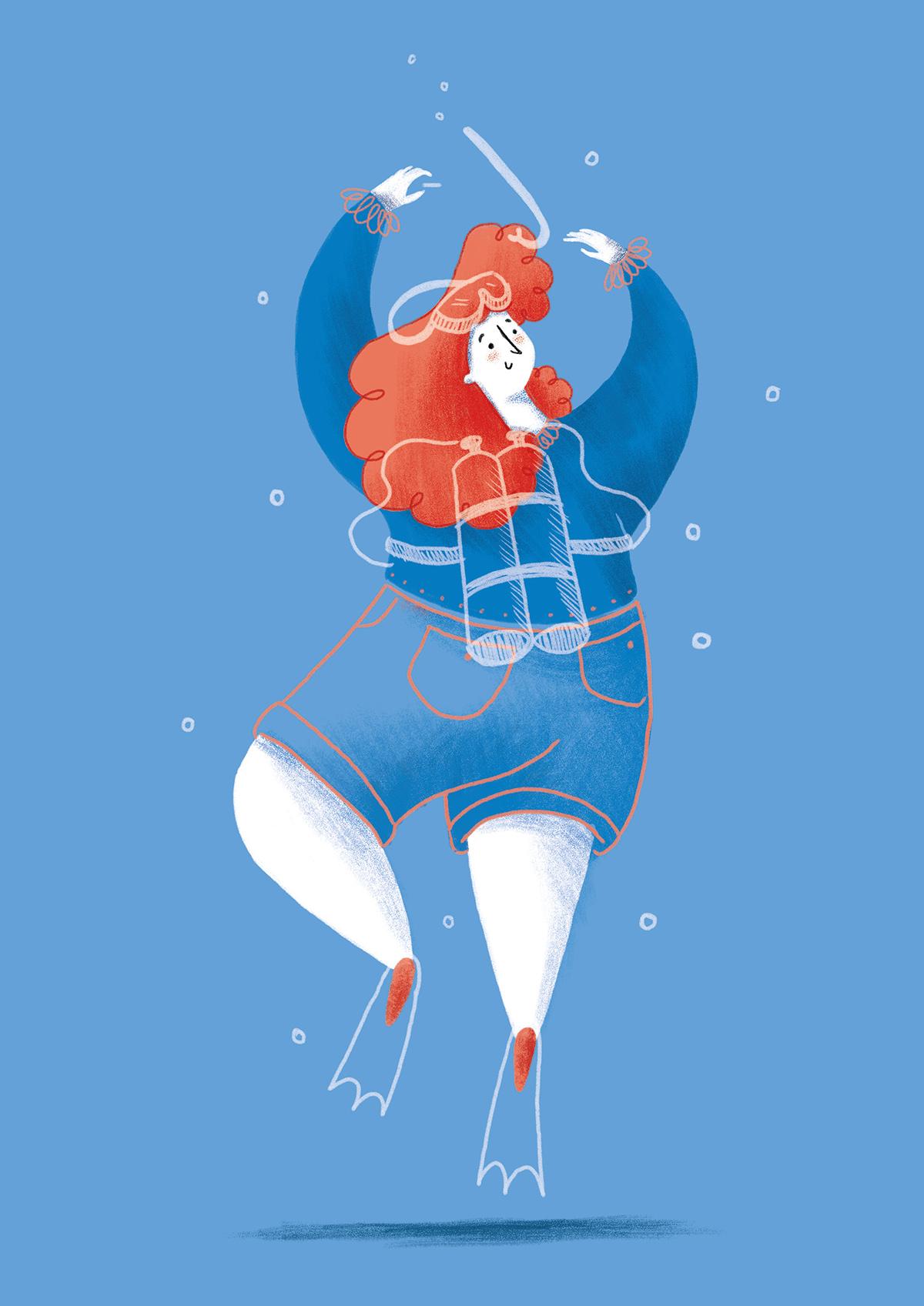 characters ILLUSTRATION  astronaut dancer Character design  dream Jobs career DANCE   dancers