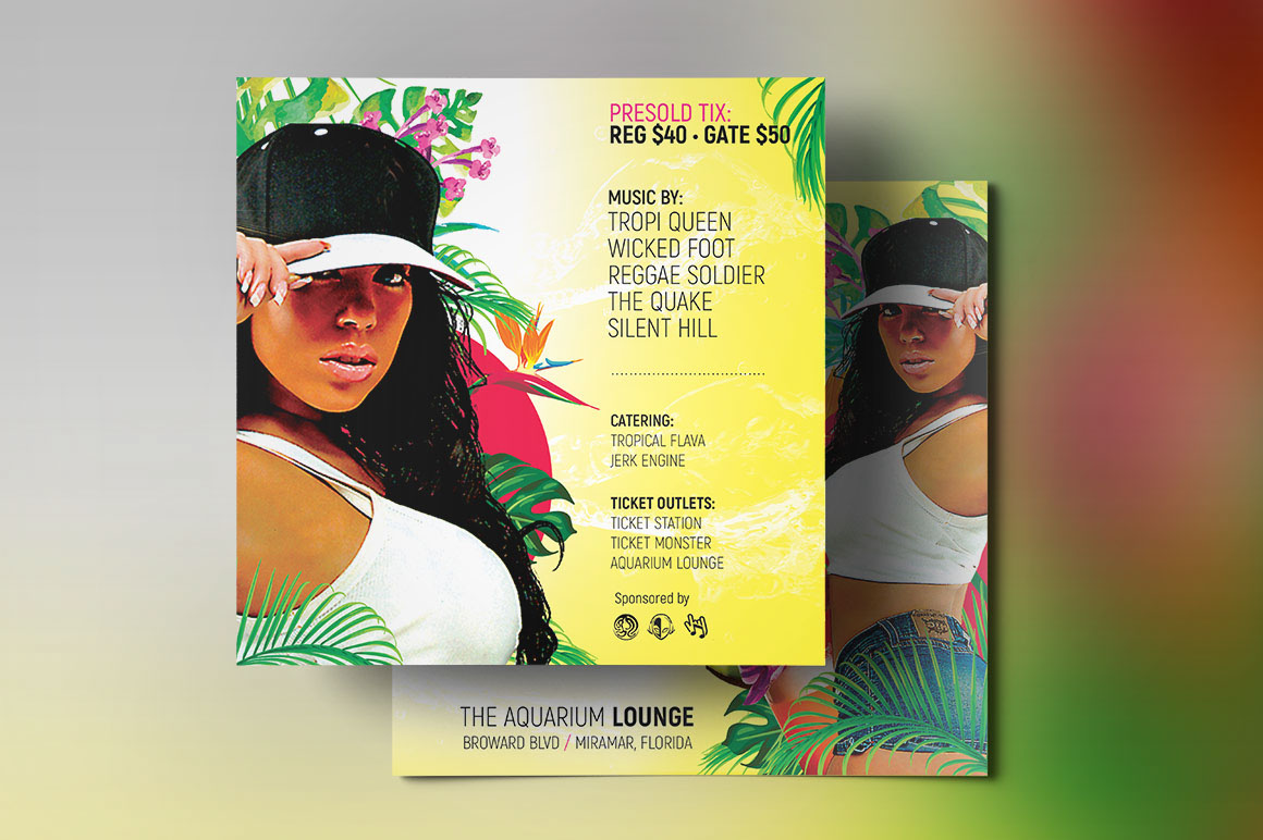 Tropical party small flyer template on behance cc1a00439964235804cce085f70g saigontimesfo