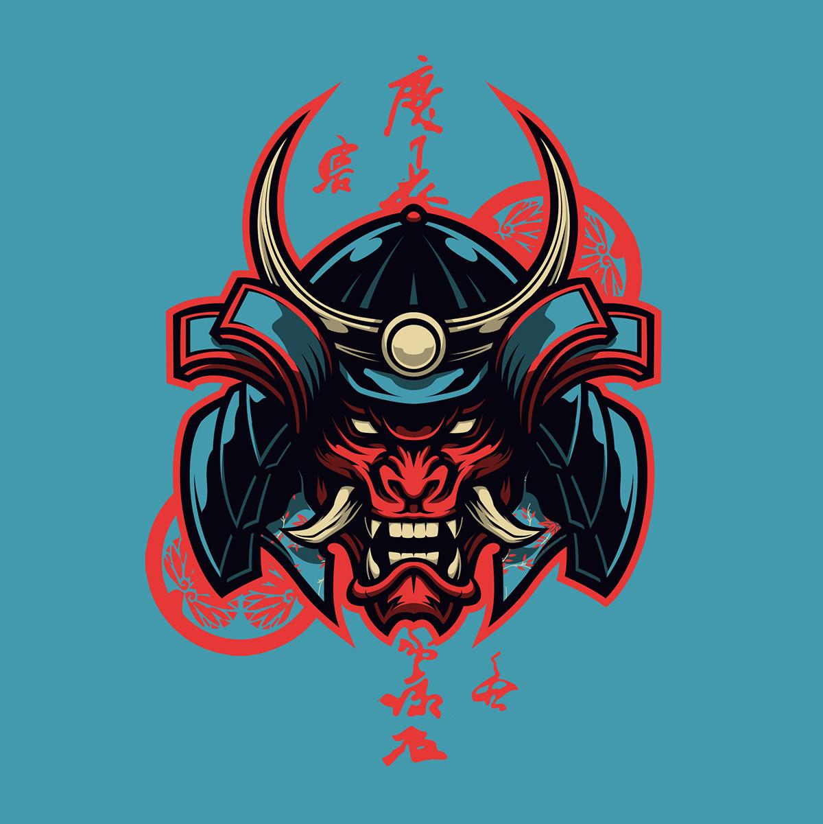 Oni Samurai On Behance