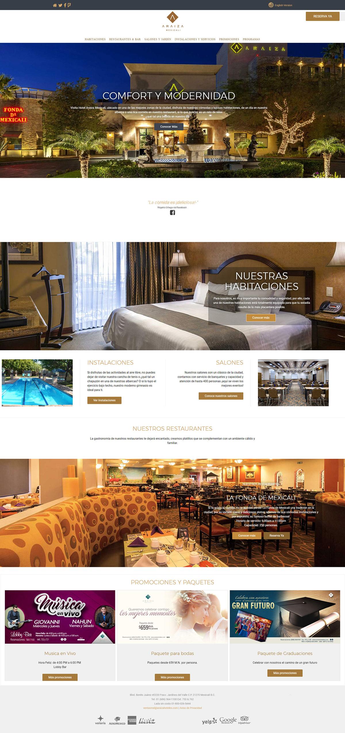 Web Design  Travel hotel tourism