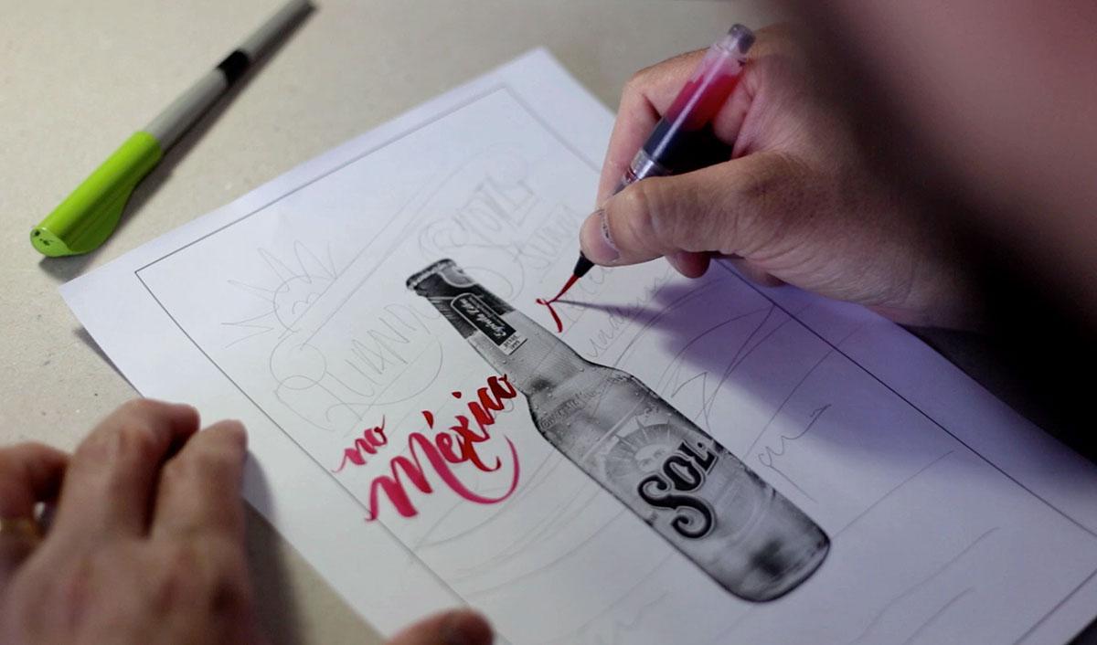 Adobe Portfolio lettering tipografia caligrafia sign painting Cerveja beer poster handmade old school