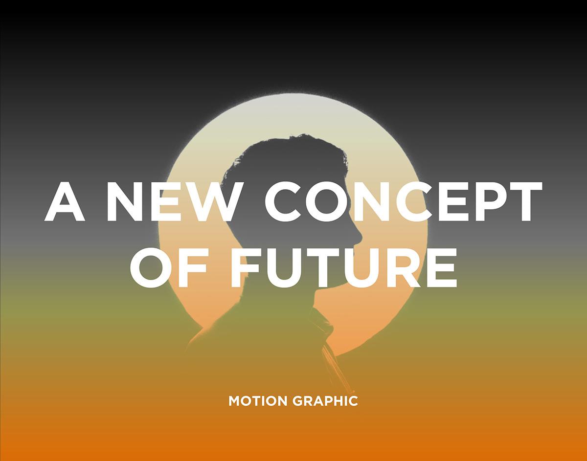 animation  art direction  concept future material motion graphic orange graphic design