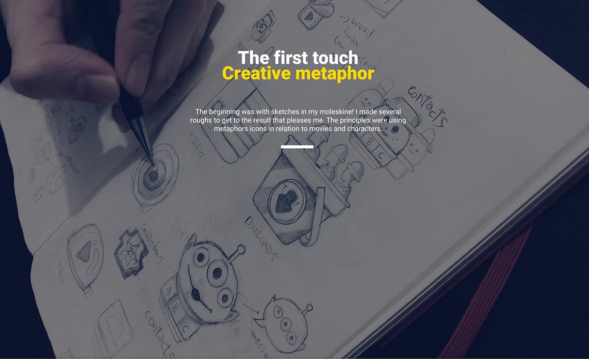 disney toy story icon pack Icon app icon flat design App logo android google identity iconography flat pixar mobile concept