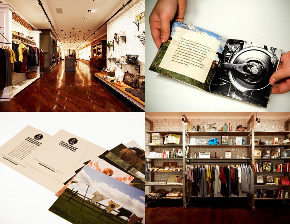 philadelphia boutique artisan gallery identity print collateral