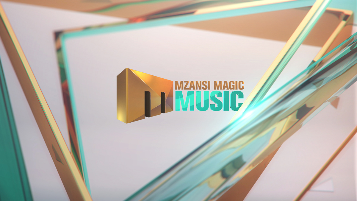 Mzansi Mzansi Music Magic   Channel CI Channel CI oldschool nostalgic 3D glossy sleak reflection gold teal brand