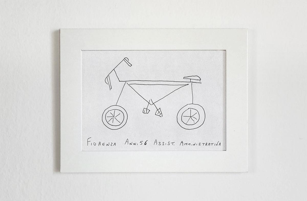ציור אופניים ציור מהראש