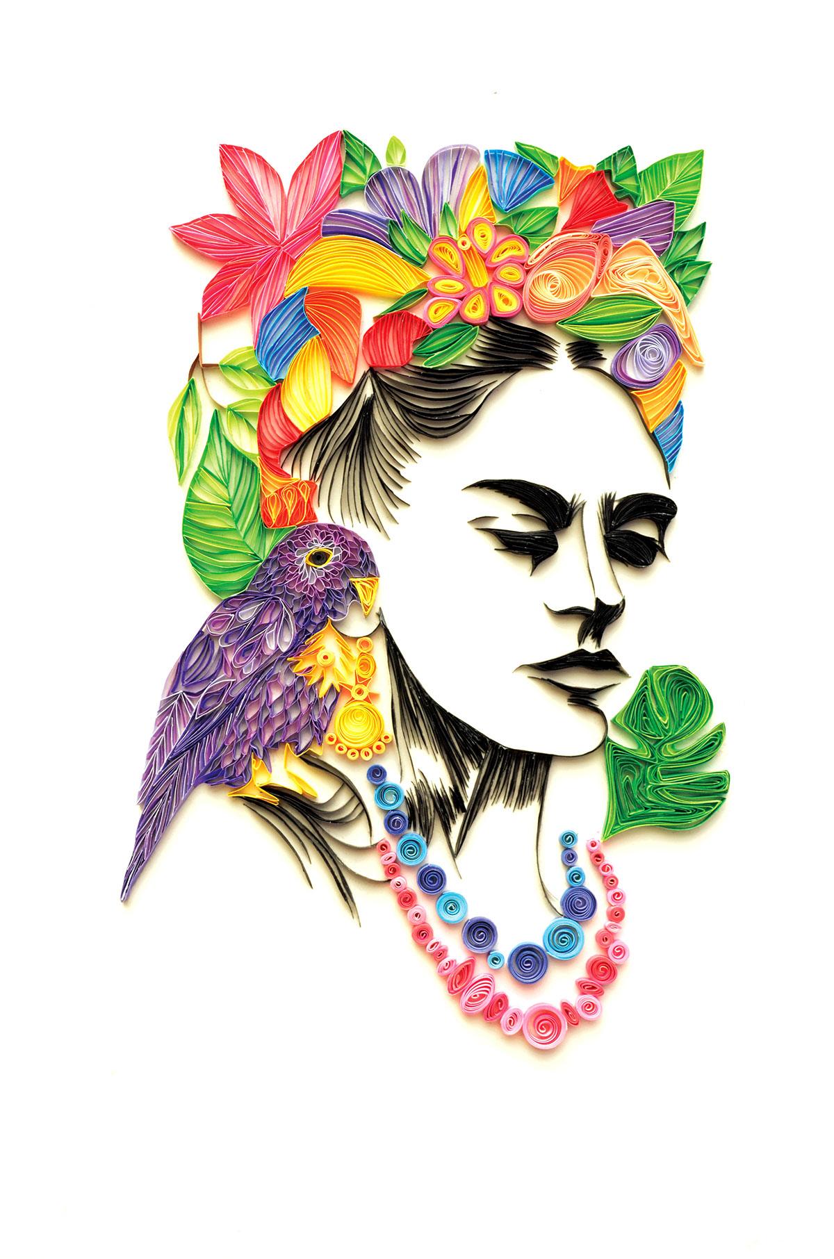 """""""Frida Kahlo"""" Quilling Paper on Behance"""