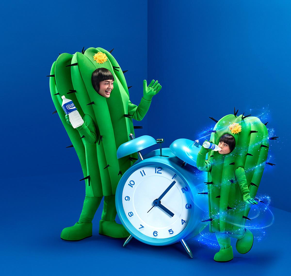 Image may contain: clock and green