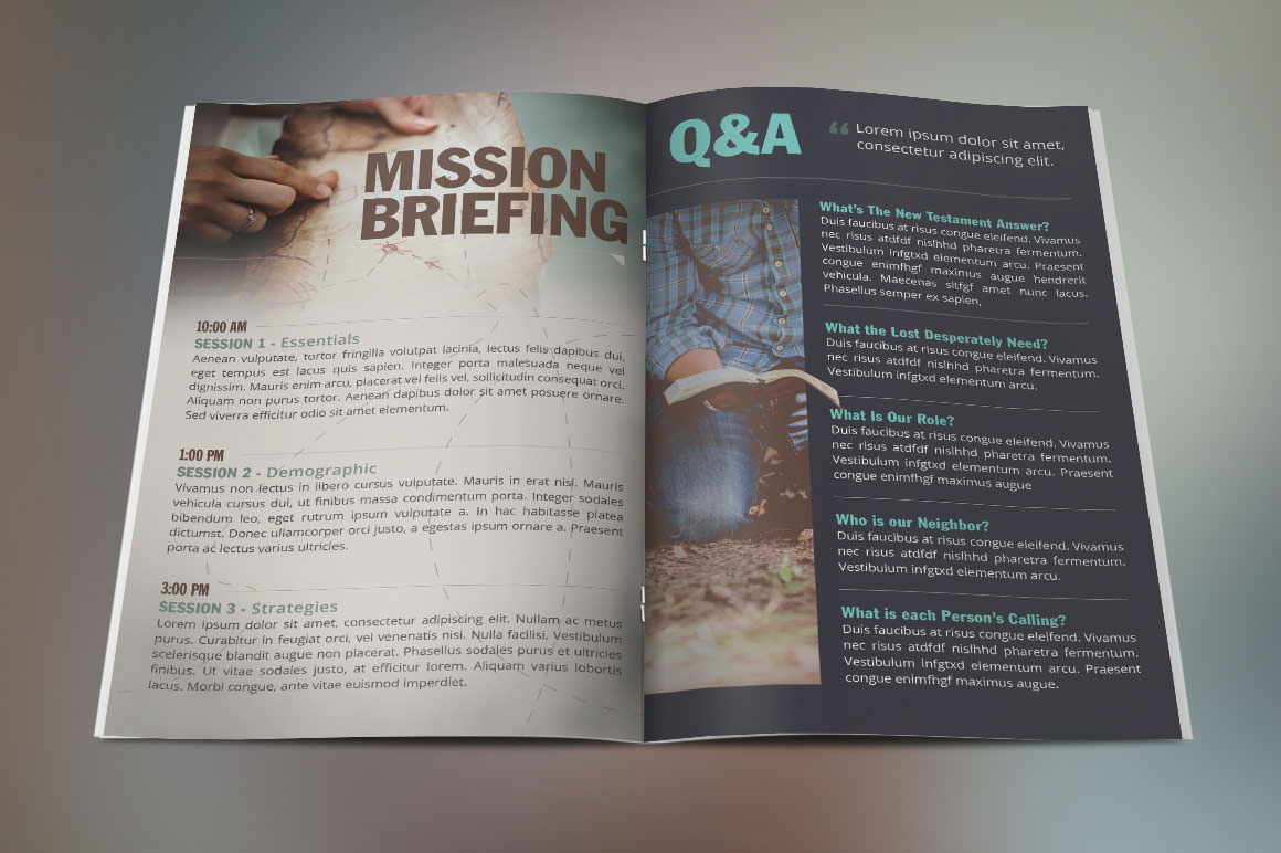 missions conference brochure template on behance