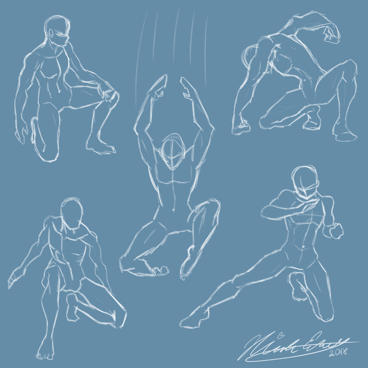 Male Figure Drawing: Action Poses on Behance