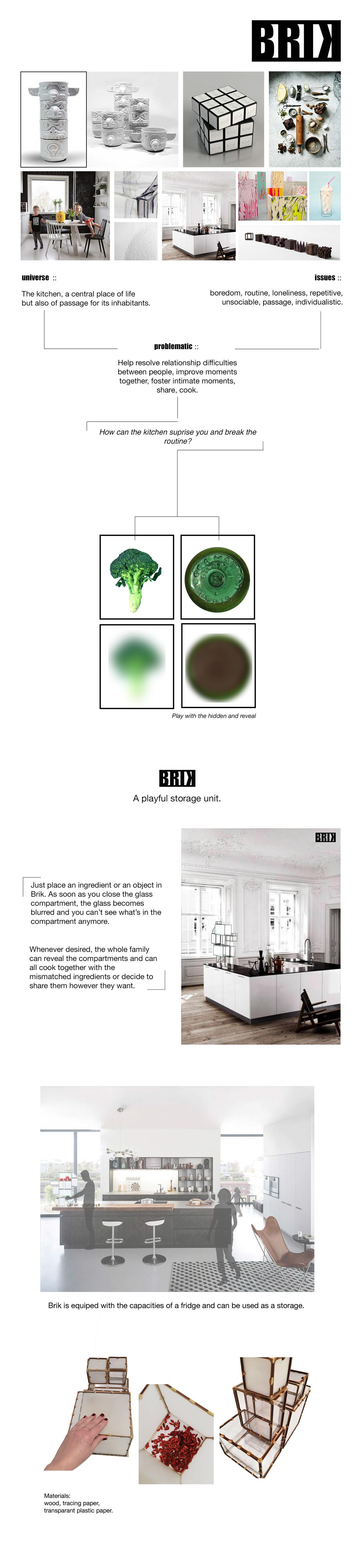 Adobe Portfolio brik kitchen Interior product home interaction family play