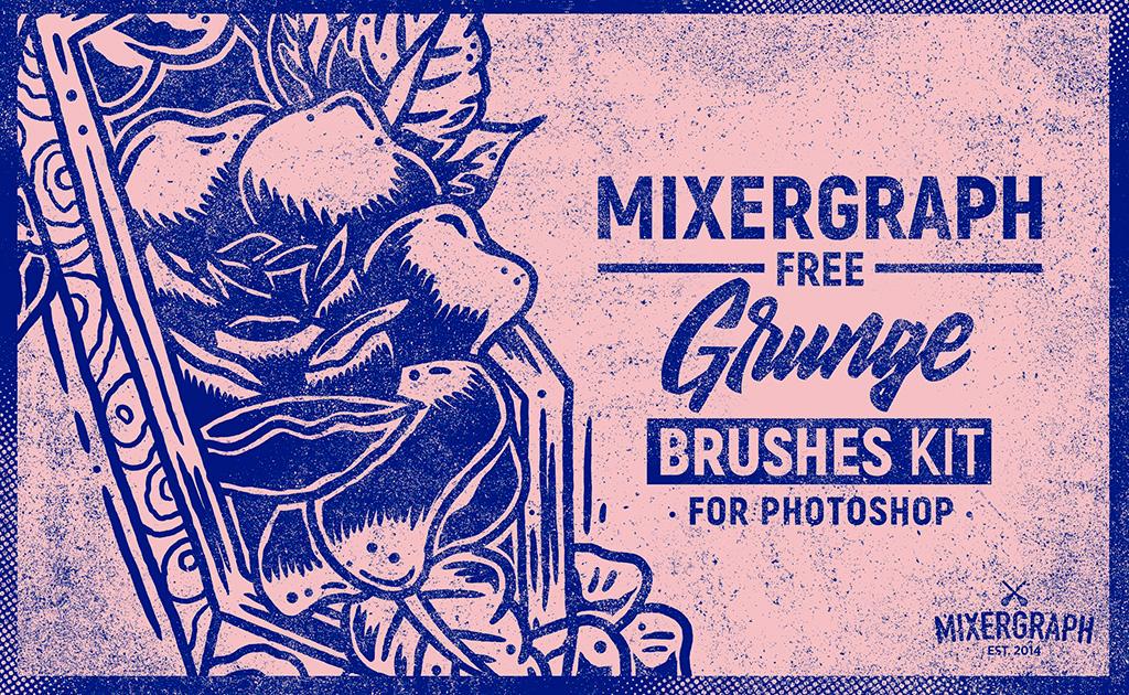 Mixergraph Free Grunge Brushes kit for Photoshop on Behance