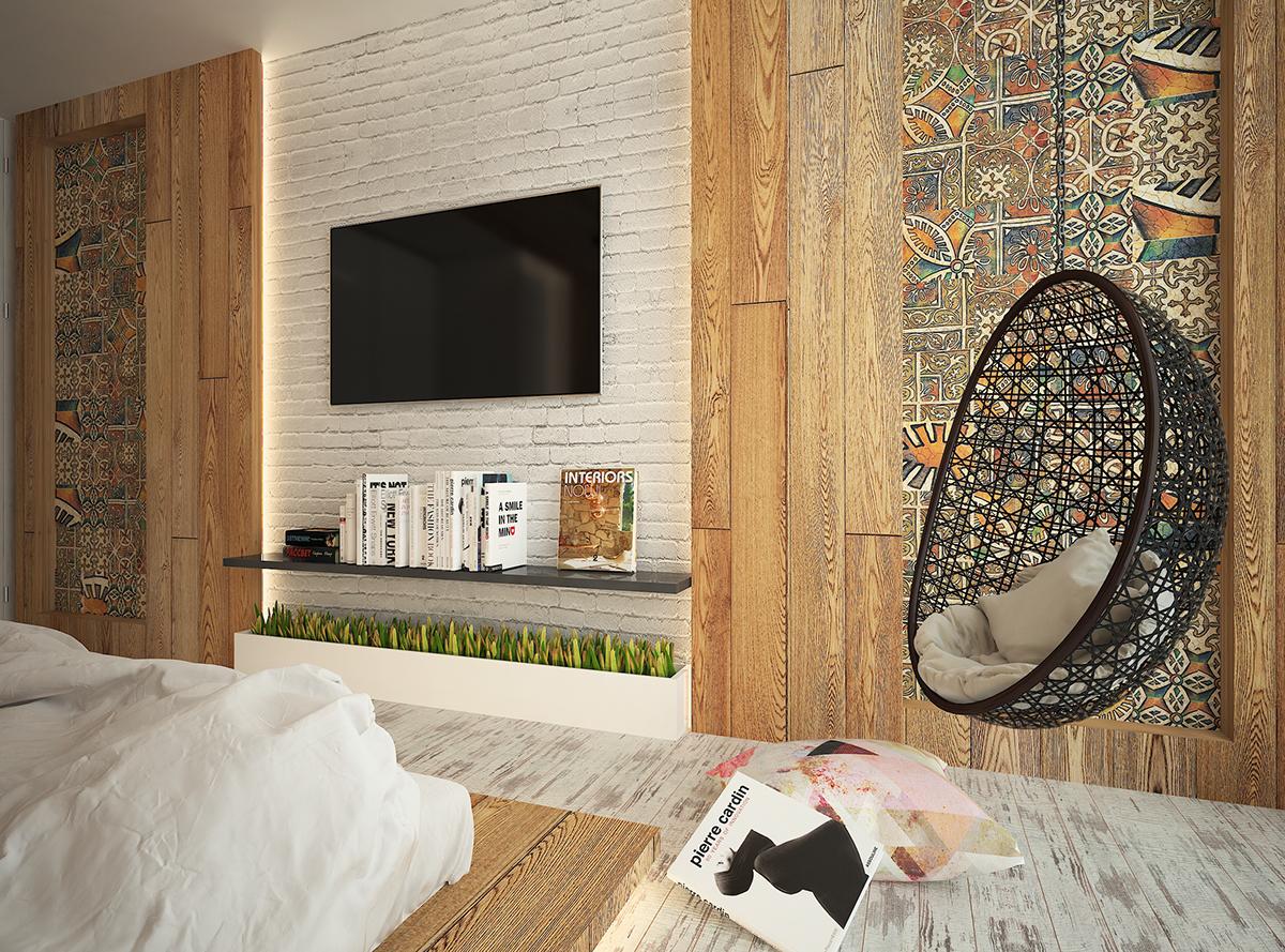 arabic wood Interior design bedroom