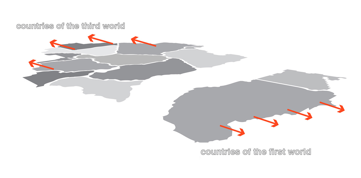 First Second Third World Map.The Vertical Country Of The Second World Social Utopia On Behance