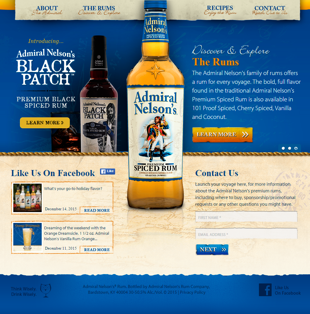 Admiral Nelsons Rum 2012 14 On Behance
