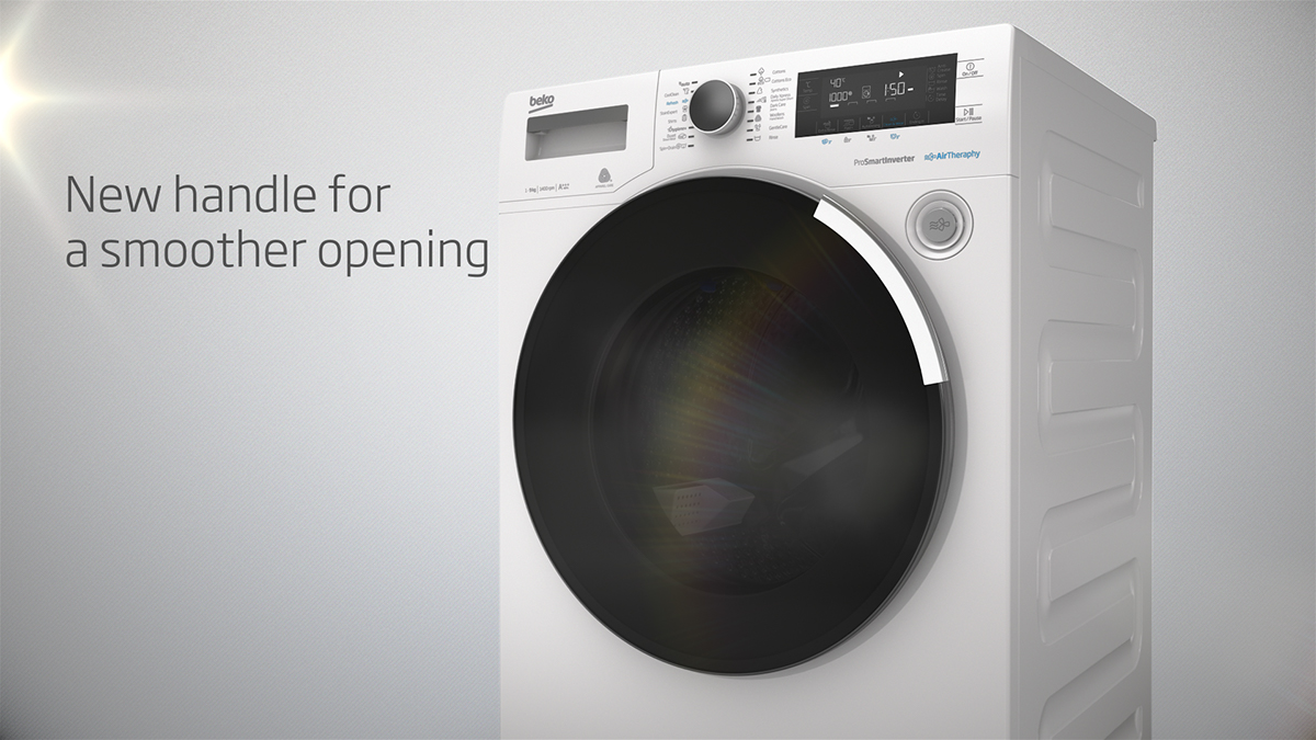 Animated Tumble Dryer ~ Beko premium laundry on pantone canvas gallery