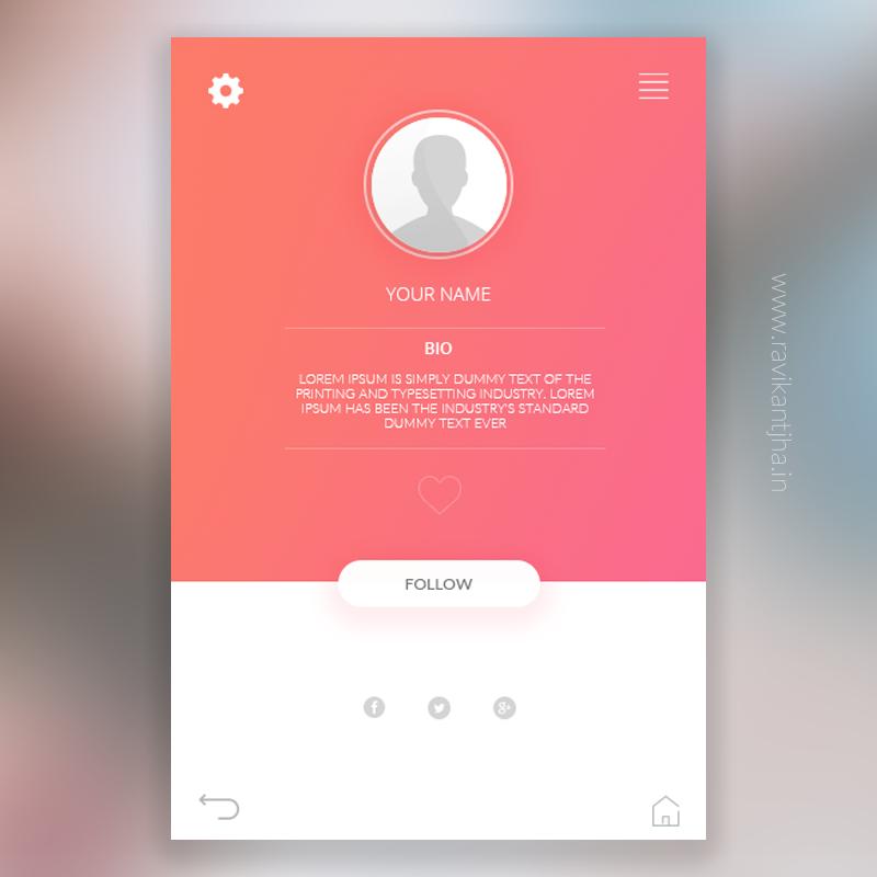 Profile Page UI design on Behance