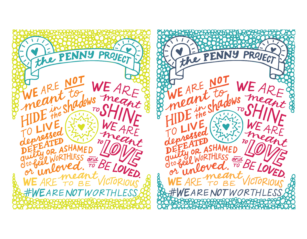 the penny project hand lettered package design on behance