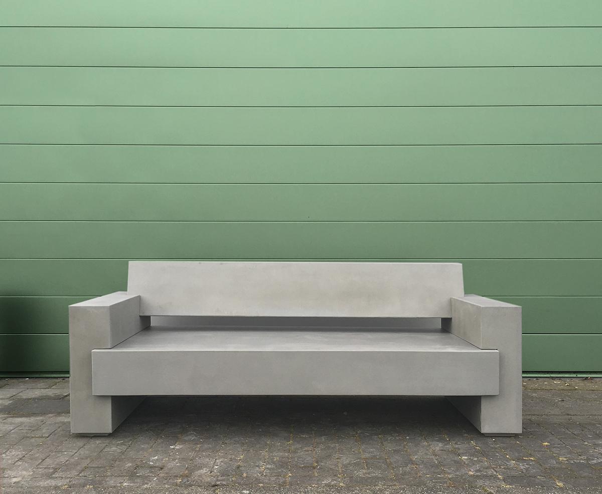 Concrete garden bench bloke on pantone canvas gallery