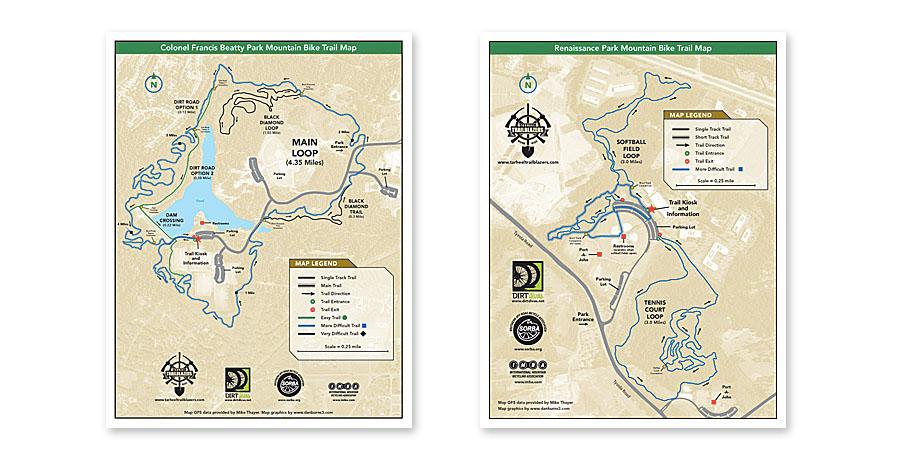 Tarheel Trailblazers Map Project on Behance