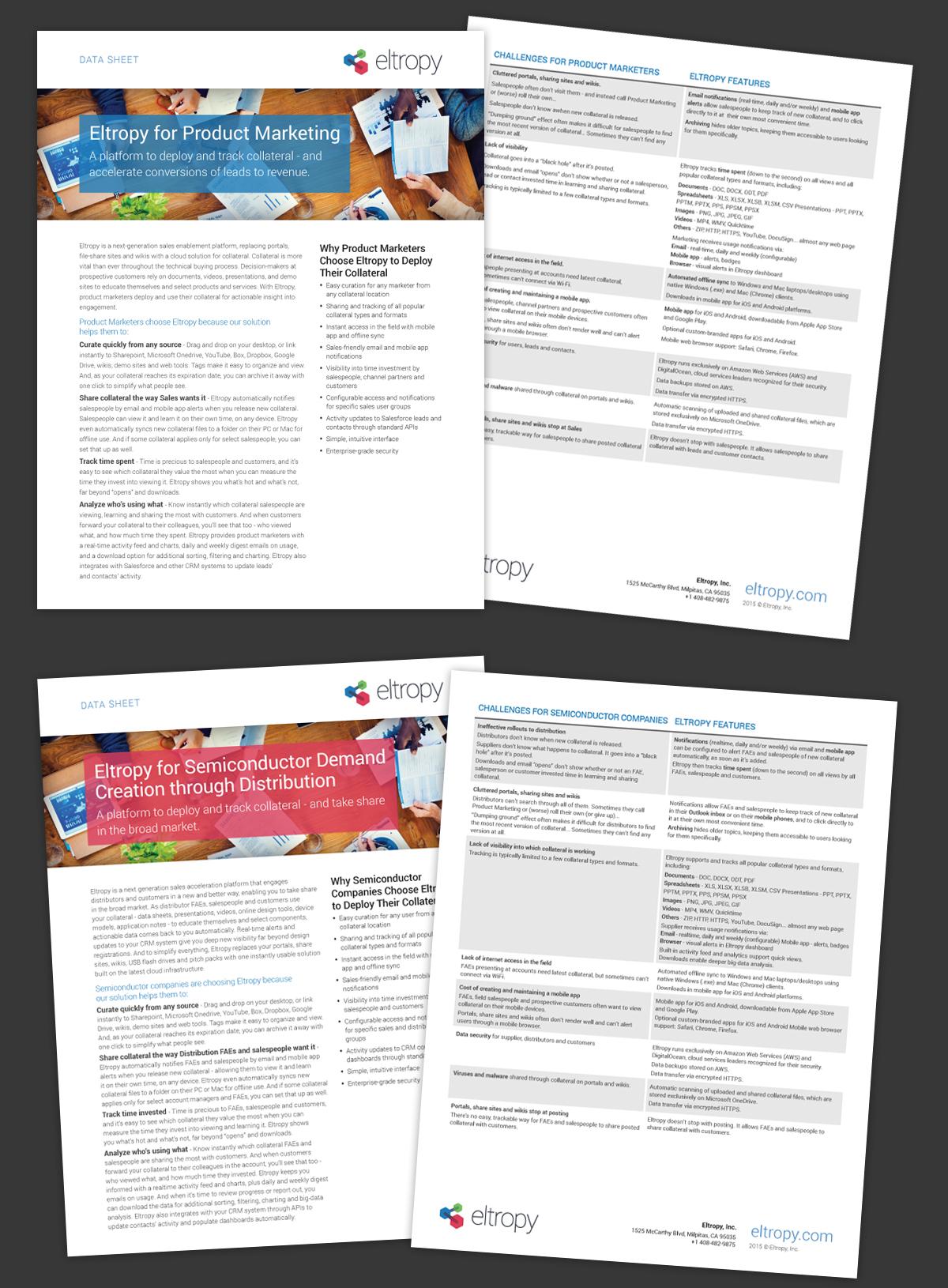 Marketing collateral data sheet Solution Brief social media