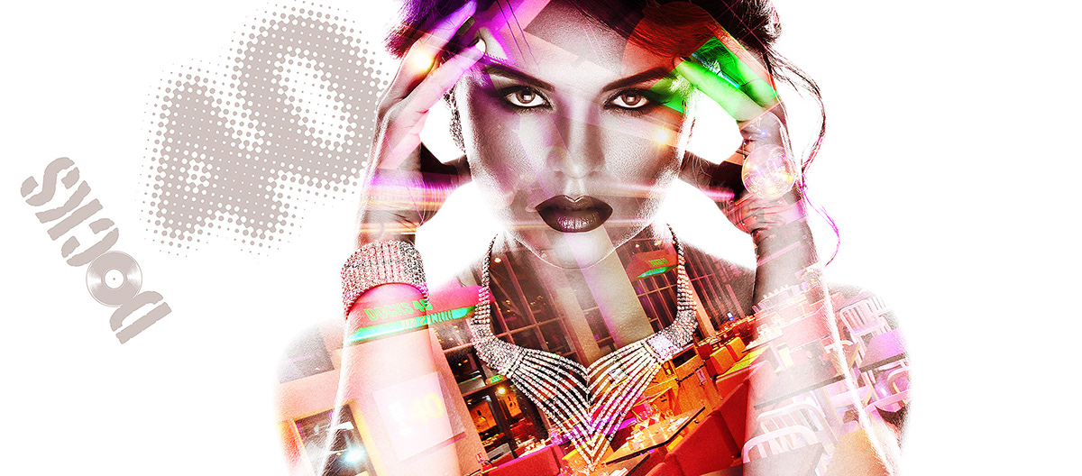 club night light color double double exposure Exposure tableaux Vip